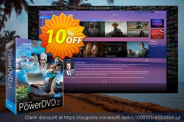 PowerDVD 19 Pro discount 10% OFF, 2020 New Year's Weekend offering discount