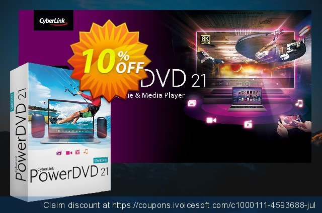 PowerDVD Standard discount 10% OFF, 2019 Thanksgiving offering sales