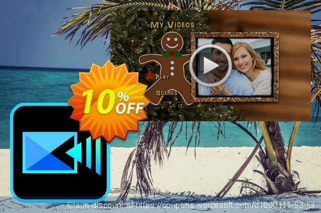 Holiday DVD Menus Pack Vol. 3 for PowerDirector discount 10% OFF, 2020 Back to School offer offering sales