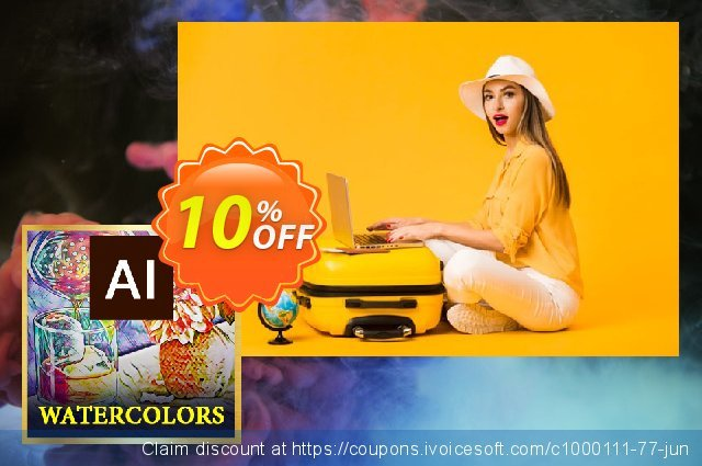 Watercolors AI Style Pack discount 10% OFF, 2020 Exclusive Student deals offering sales