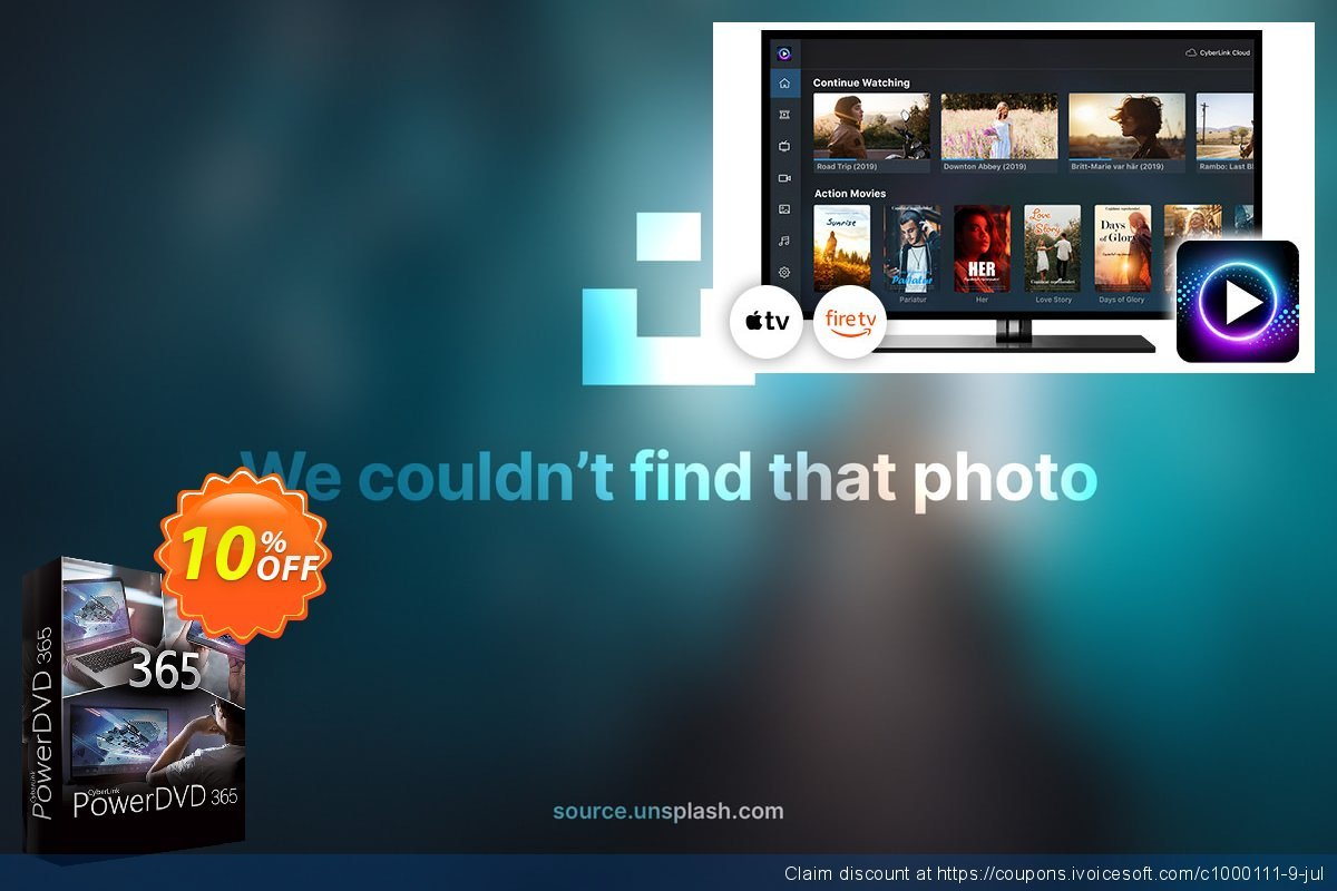 PowerDVD 19 live discount 10% OFF, 2020 July 4th promotions