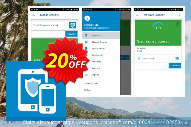 Emsisoft Mobile Security discount 10% OFF, 2019 Christmas offering sales