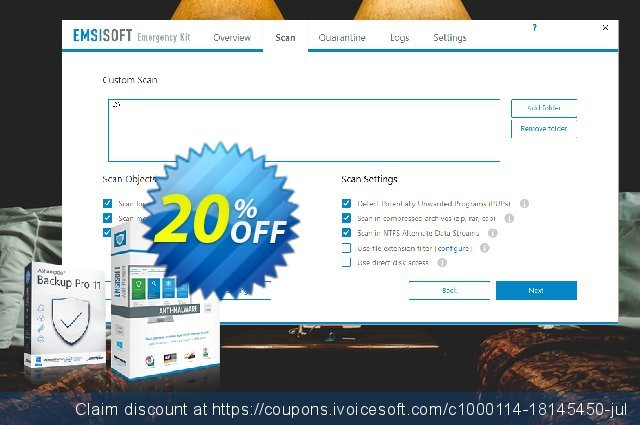 Emsisoft Emergency Kit Pro discount 10% OFF, 2020 Spring offering sales