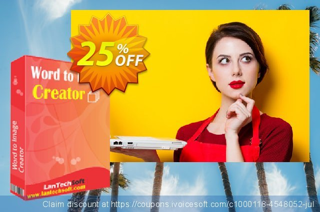 LantechSoft Word to Image Creator discount 25% OFF, 2020 Happy New Year promotions