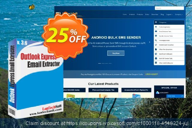 LantechSoft Email Extractor Outlook Express discount 25% OFF, 2020 New Year's Day sales