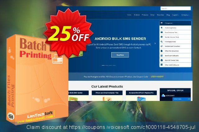 LantechSoft Batch Files Printing discount 25% OFF, 2020 Back to School promo offering sales