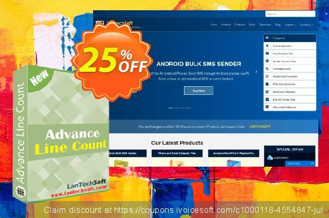 LantechSoft Advance Line Count discount 25% OFF, 2020 Halloween deals