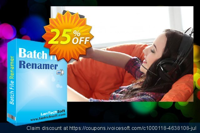 LantechSoft Batch File Renamer discount 25% OFF, 2020 New Year's Weekend offering sales