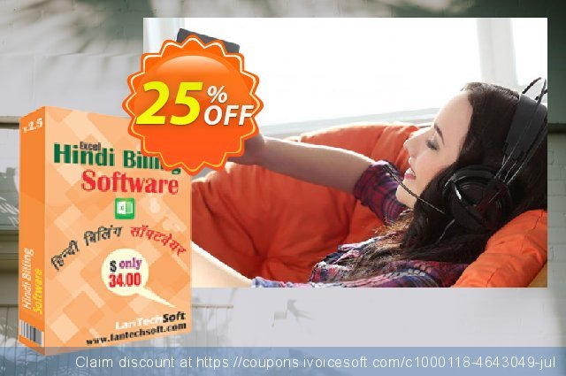 LantechSoft Hindi Excel Billing Software discount 25% OFF, 2020 Halloween offering sales