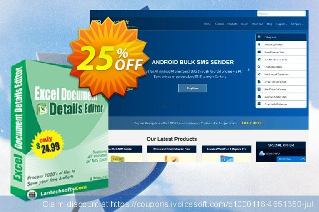 LantechSoft Excel Document Details Editor discount 25% OFF, 2020 January offering sales