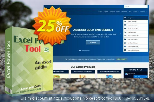 Excel Power Tool discount 10% OFF, 2019 Black Friday promo sales