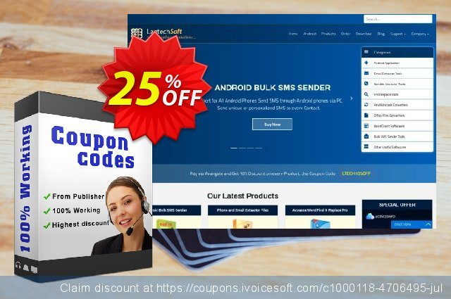 LantechSoft Special Email Marketing Tool discount 25% OFF, 2020 Happy New Year deals