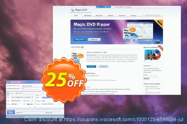 Magic DVD Ripper (Full License + 1 Year Upgrades) discount 25% OFF, 2020 College Student deals sales