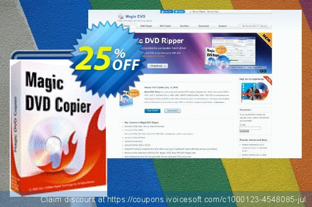 Magic DVD Copier (Full License + 1 Year Upgrades) discount 25% OFF, 2021 Easter day offering sales