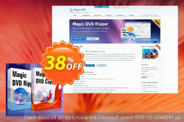 Magic DVD Ripper + Magic DVD Copier (Full License + 1 Year Upgrades) discount 38% OFF, 2020 Back to School shopping promo sales