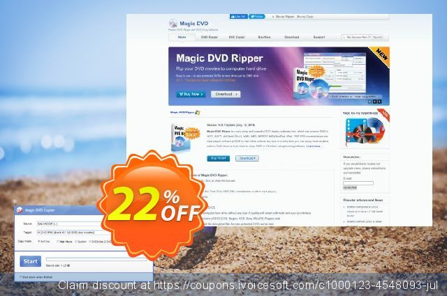 Magic DVD Copier (Full License + 2 Years Upgrades) discount 22% OFF, 2020 Back to School coupons offering sales