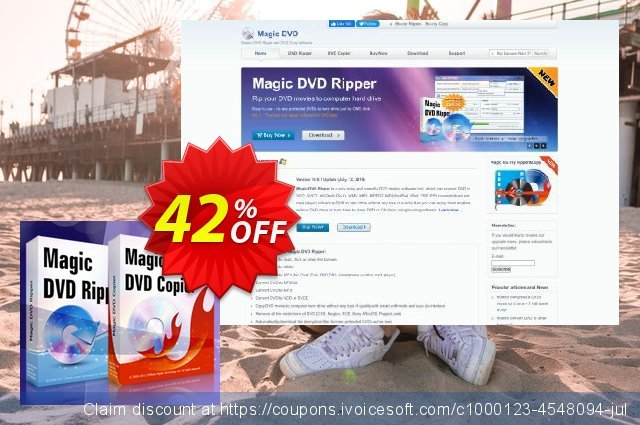 Magic DVD Ripper + Magic DVD Copier (Full License + 2 Years Upgrades) discount 42% OFF, 2020 Halloween offering sales