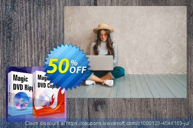 Magic DVD Ripper + Magic DVD Copier - 2 Years Upgrades discount 50% OFF, 2020 Halloween deals