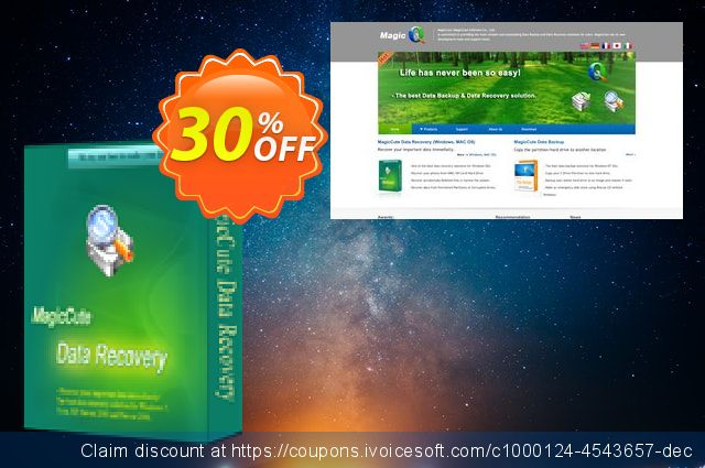 MagicCute Data Recovery - 1 Year discount 30% OFF, 2019 Christmas promotions