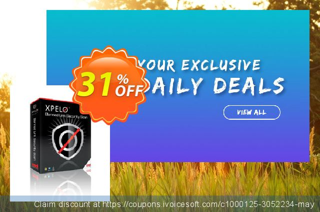 XPELO® Banned Link Security Scan 令人吃惊的 产品销售 软件截图