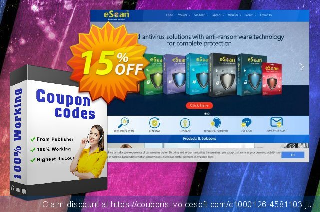 eScan Anti-Virus with Cloud discount 15% OFF, 2020 Halloween offering sales