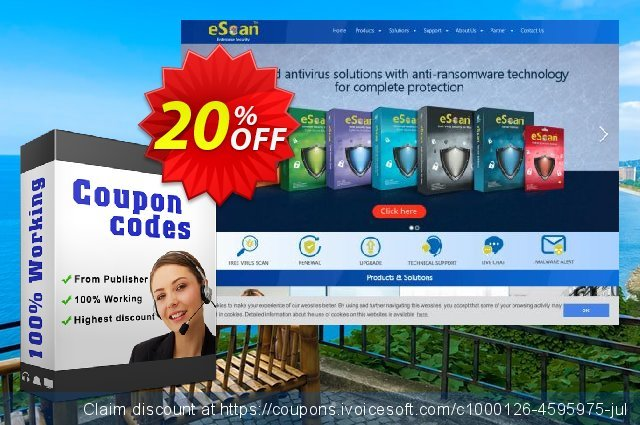 eScan Anti-Virus for Windows and Mobile discount 20% OFF, 2020 Halloween sales