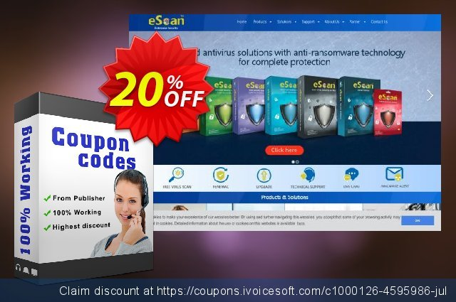 eScan Anti-Virus for Windows and MAC discount 20% OFF, 2020 New Year's Weekend offer