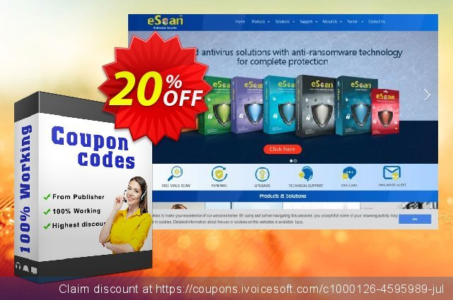 eScan Protection for Windows and MAC discount 20% OFF, 2020 New Year's Day offering sales