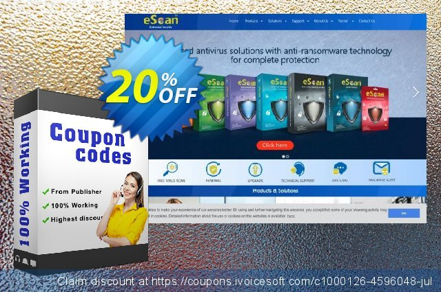 eScan Anti-Virus for Windows and Tablet 惊人的 折扣 软件截图