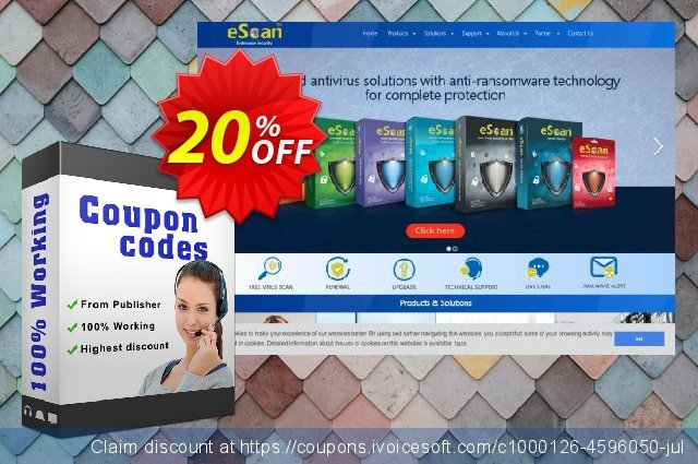 eScan Anti-Virus for Windows, MAC and Tablet  서늘해요   프로모션  스크린 샷