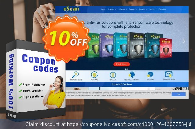 eScan Total Security Suite with Cloud Security discount 10% OFF, 2020 Halloween discounts