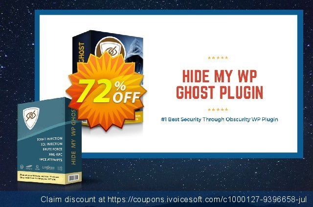 Hide My WP Ghost - 10 Websites discount 72% OFF, 2019 Back to School offer offering sales
