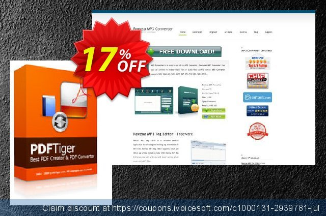 Reezaa PDFTiger discount 17% OFF, 2021 New Year's Day promo sales
