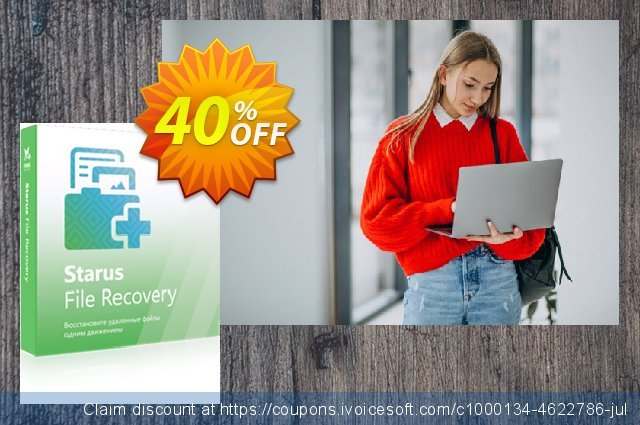 Starus File Recovery discount 40% OFF, 2020 Back to School season promo sales