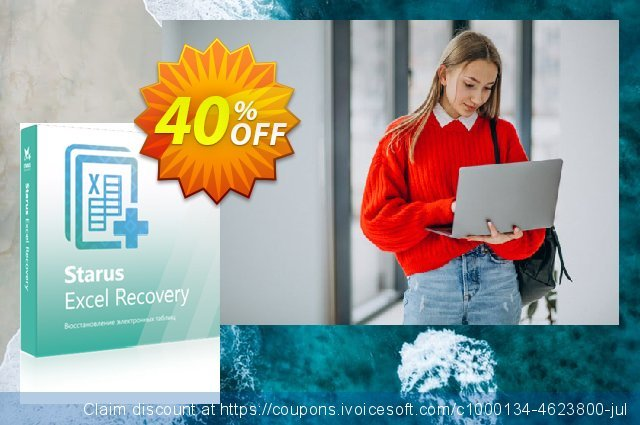 Starus Excel Recovery discount 40% OFF, 2020 University Student deals offering sales