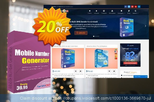 Mobile Number Generator discount 10% OFF, 2020 College Student deals promotions