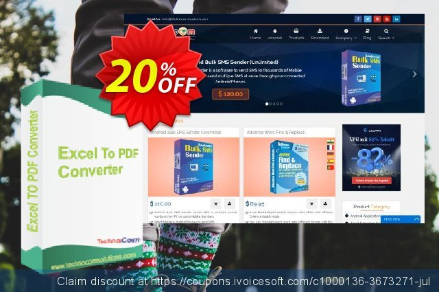 Excel to PDF Converter discount 10% OFF, 2020 Back to School coupons offering sales