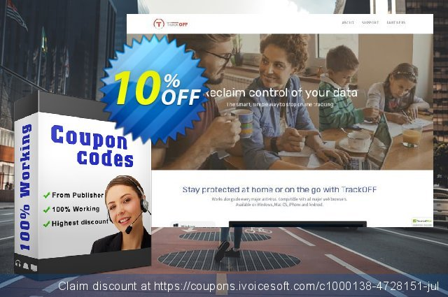 TrackOFF Elite - 1 Month - Windows discount 10% OFF, 2021 Mother's Day offering sales. TrackOFF Elite - 1 Month - Windows awesome promo code 2021