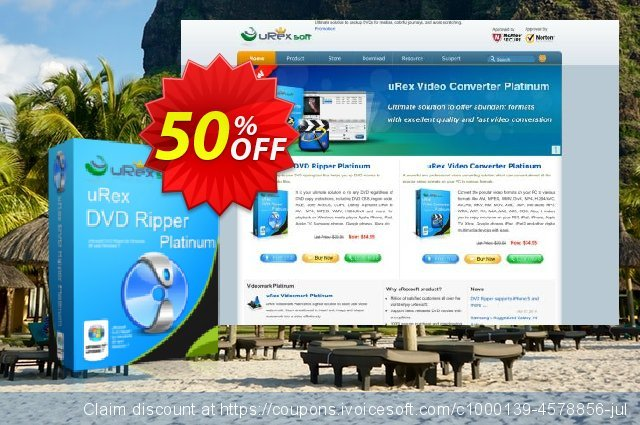 uRex DVD Ripper Platinum discount 50% OFF, 2020 College Student deals offering discount