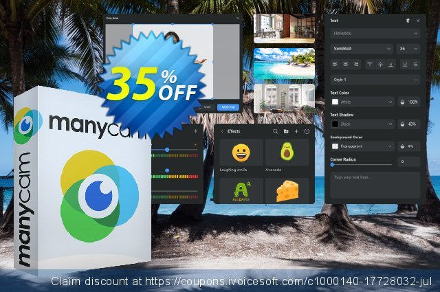 ManyCam Studio Annual discount 30% OFF, 2020 College Student deals offering sales