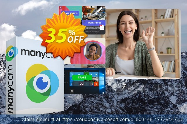 ManyCam Studio Lifetime discount 35% OFF, 2019 Back to School coupons offering sales