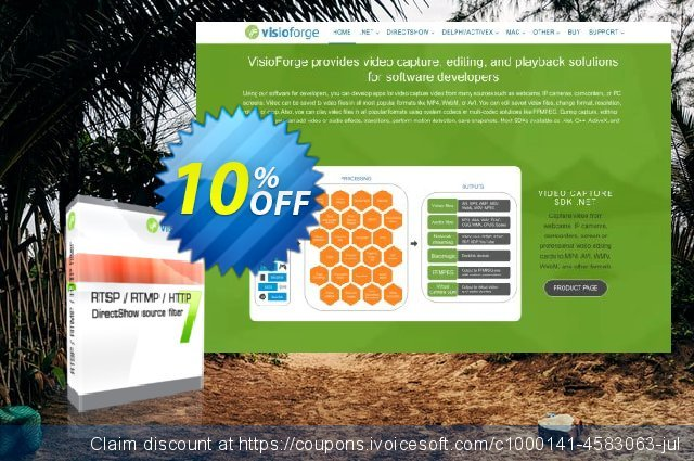 RTSP RTMP HTTP DirectShow source filter - One Developer discount 10% OFF, 2020 Summer offer