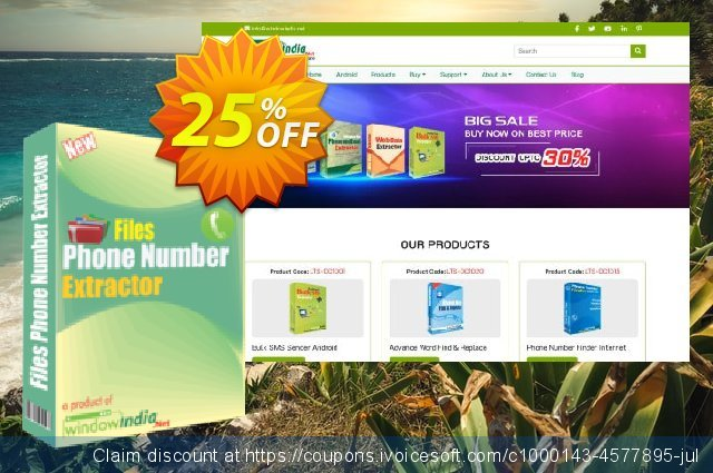 WindowIndia Files Phone Number Extractor discount 25% OFF, 2020 Halloween offering sales
