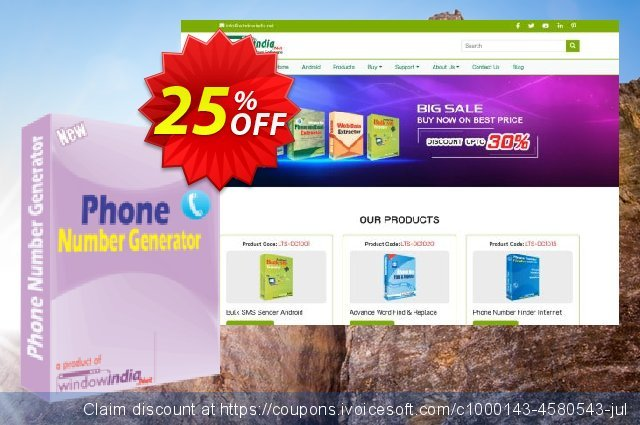 WindowIndia Phone Number Generator discount 25% OFF, 2020 Halloween offering discount