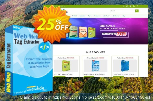 WindowIndia Web Meta Tag Extractor discount 25% OFF, 2021 All Saints' Eve offering deals. Christmas OFF