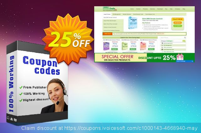 WindowIndia Bundle Email Extractors (File + Outlook) discount 25% OFF, 2020 April Fools' Day promo sales