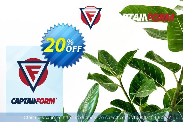 Captainform Master discount 20% OFF, 2019 College Student deals offering sales