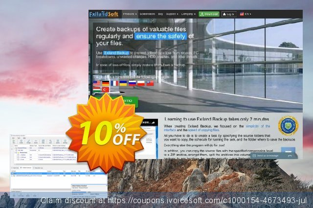 Exiland Backup Standard discount 20% OFF, 2020 New Year's Day offering sales