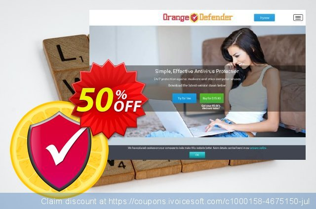 Orange Defender Antivirus - 30 days subscription discount 50% OFF, 2019 Xmas offering sales