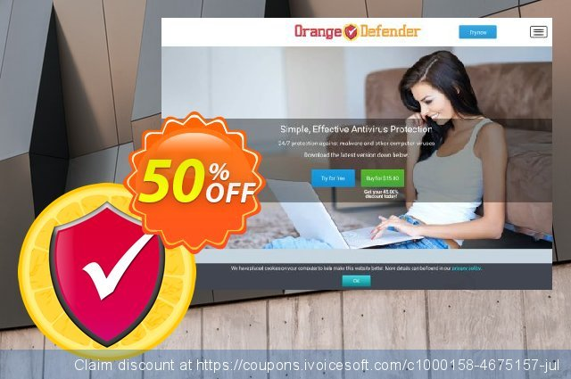 Orange Defender Antivirus - 2 years subscription 神奇的 产品交易 软件截图